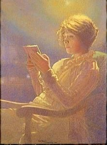 445px-Leon_Kaufmann_Woman_reading